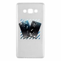 Чехол для Samsung A7 2015 Gambling Cards The Witcher and Cyrilla