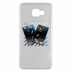 Чехол для Samsung A7 2016 Gambling Cards The Witcher and Cyrilla