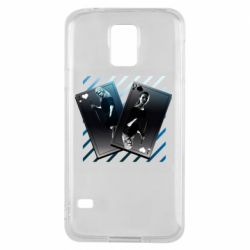 Чехол для Samsung S5 Gambling Cards The Witcher and Cyrilla