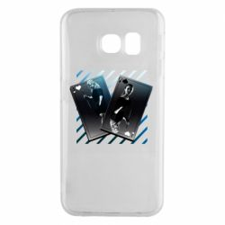 Чехол для Samsung S6 EDGE Gambling Cards The Witcher and Cyrilla