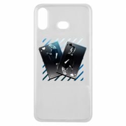 Чехол для Samsung A6s Gambling Cards The Witcher and Cyrilla