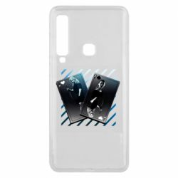 Чехол для Samsung A9 2018 Gambling Cards The Witcher and Cyrilla