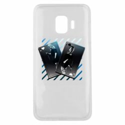 Чехол для Samsung J2 Core Gambling Cards The Witcher and Cyrilla