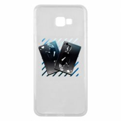 Чехол для Samsung J4 Plus 2018 Gambling Cards The Witcher and Cyrilla