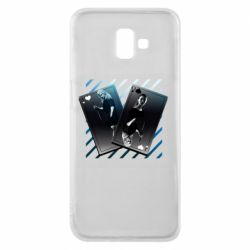 Чехол для Samsung J6 Plus 2018 Gambling Cards The Witcher and Cyrilla