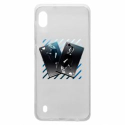 Чехол для Samsung A10 Gambling Cards The Witcher and Cyrilla
