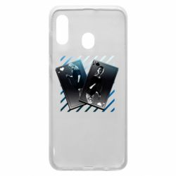 Чехол для Samsung A20 Gambling Cards The Witcher and Cyrilla