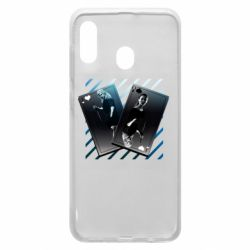 Чехол для Samsung A30 Gambling Cards The Witcher and Cyrilla
