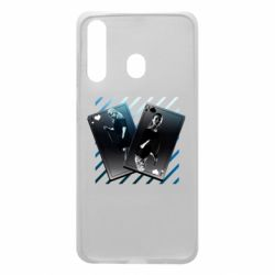 Чехол для Samsung A60 Gambling Cards The Witcher and Cyrilla