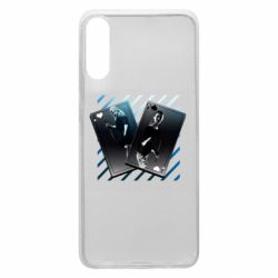 Чехол для Samsung A70 Gambling Cards The Witcher and Cyrilla