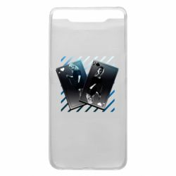 Чехол для Samsung A80 Gambling Cards The Witcher and Cyrilla