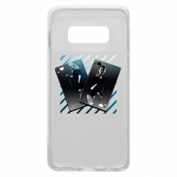 Чехол для Samsung S10e Gambling Cards The Witcher and Cyrilla
