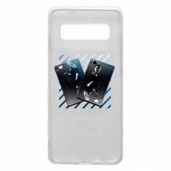 Чехол для Samsung S10 Gambling Cards The Witcher and Cyrilla