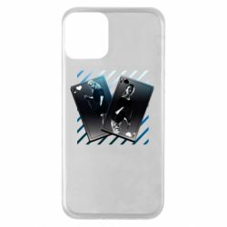 Чехол для iPhone 11 Gambling Cards The Witcher and Cyrilla