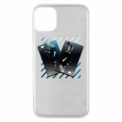 Чехол для iPhone 11 Pro Gambling Cards The Witcher and Cyrilla