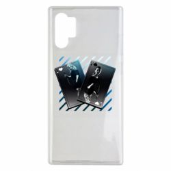 Чехол для Samsung Note 10 Plus Gambling Cards The Witcher and Cyrilla
