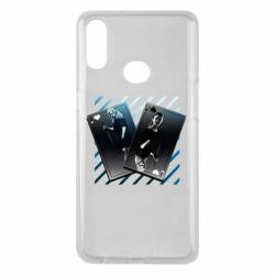 Чехол для Samsung A10s Gambling Cards The Witcher and Cyrilla