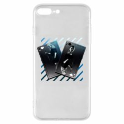 Чехол для iPhone 7 Plus Gambling Cards The Witcher and Cyrilla