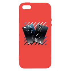 Чехол для iPhone5/5S/SE Gambling Cards The Witcher and Cyrilla
