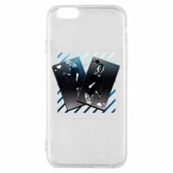 Чехол для iPhone 6/6S Gambling Cards The Witcher and Cyrilla