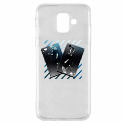 Чехол для Samsung A6 2018 Gambling Cards The Witcher and Cyrilla