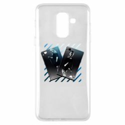 Чехол для Samsung A6+ 2018 Gambling Cards The Witcher and Cyrilla