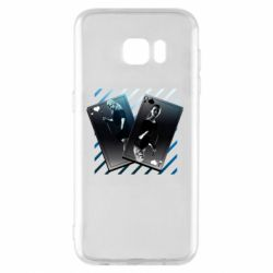 Чехол для Samsung S7 EDGE Gambling Cards The Witcher and Cyrilla