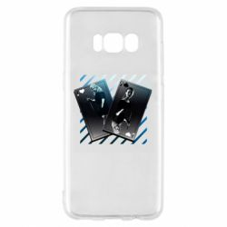 Чехол для Samsung S8 Gambling Cards The Witcher and Cyrilla