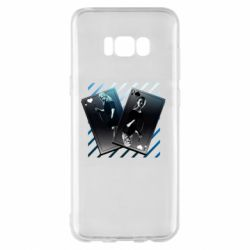 Чехол для Samsung S8+ Gambling Cards The Witcher and Cyrilla