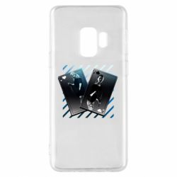 Чехол для Samsung S9 Gambling Cards The Witcher and Cyrilla