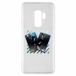 Чехол для Samsung S9+ Gambling Cards The Witcher and Cyrilla