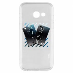 Чехол для Samsung A3 2017 Gambling Cards The Witcher and Cyrilla