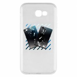 Чехол для Samsung A7 2017 Gambling Cards The Witcher and Cyrilla