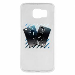 Чехол для Samsung S6 Gambling Cards The Witcher and Cyrilla