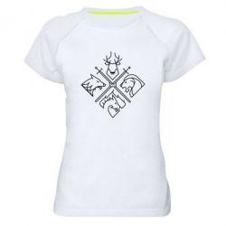 Женская спортивная футболка Game of Thrones Houses