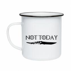 Кружка эмалированная Game of Thrones: not today