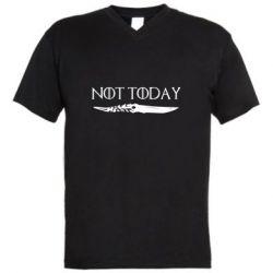 Мужская футболка  с V-образным вырезом Game of Thrones: not today