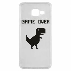 Чехол для Samsung A3 2016 Game over dino from browser