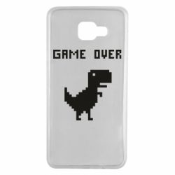 Чехол для Samsung A7 2016 Game over dino from browser