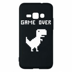 Чехол для Samsung J1 2016 Game over dino from browser