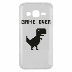 Чехол для Samsung J2 2015 Game over dino from browser
