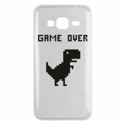 Чехол для Samsung J3 2016 Game over dino from browser