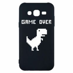 Чехол для Samsung J5 2015 Game over dino from browser