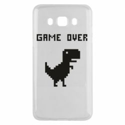 Чехол для Samsung J5 2016 Game over dino from browser