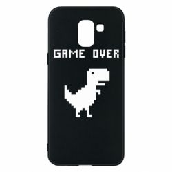Чехол для Samsung J6 Game over dino from browser