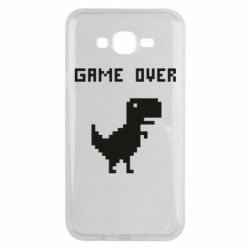 Чехол для Samsung J7 2015 Game over dino from browser