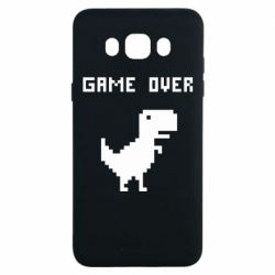 Чехол для Samsung J7 2016 Game over dino from browser