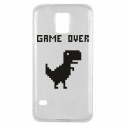 Чехол для Samsung S5 Game over dino from browser