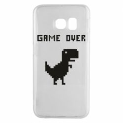 Чехол для Samsung S6 EDGE Game over dino from browser