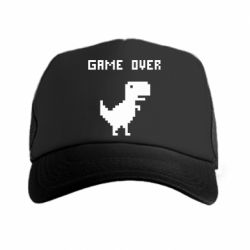 Кепка-тракер Game over dino from browser